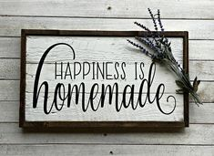 Happiness is Homemade Pallet Sign Wood Sign Farmhouse