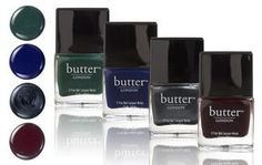 The Dark Side~    Dramatic nails are a year-round delicacy. This selection makes you the ultimate vamp. Eat your heart out, suits. This pack contains British Racing Green, Royal Navy, Chimney Sweep and La Moss