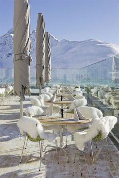 High-altitude experience in the Alps with a panoramic view ~ Berghotel Muottas Muragl,  Switzerland