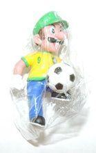 Mario Bros Luigi Mini Brazilian Soccer Figure- Dribble