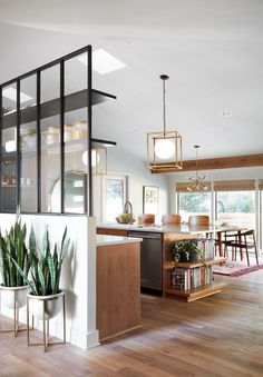 The 10 Most Brilliant Kitchen Design Ideas Chip and Joanna Ever Had on 'Fixer Upper' - Kitchen Ideas Decor, Home, Glass Partition Wall, Fixer Upper Kitchen, Kitchen Design, Joanna Gaines Kitchen, House, Interior Design, House Interior