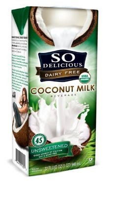 So Delicious Dairy Free - Organic Coconut Milk Beverage Organic Unsweetened,  32-Ounce (Pack of 6) - http://goodvibeorganics.com/so-delicious-dairy-free-organic-coconut-milk-beverage-organic-unsweetened-32-ounce-pack-of-6/