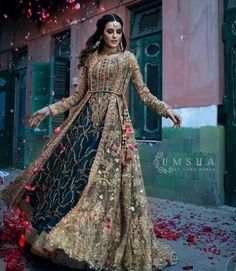 This stunning Bridal Gown has a good looking embroidery stick to it. Book your wedding from BookEventz ! Bridal Mehndi Dresses, Asian Wedding Dress, Pakistani Wedding Outfits, Pakistani Bridal Dresses, Pakistani Wedding Dresses, Bridal Outfits, Indian Dresses, Bridal Gowns, Anarkali Bridal