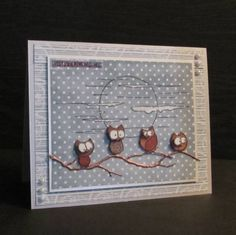 Night Owls by Pia S - Cards and Paper Crafts at Splitcoaststampers