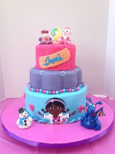 Cake Central - Most Viewed Cakes Aaliyah Birthday, Birthday Cake Girls, Birthday Fun, Birthday Cakes, Birthday Ideas, Doc Mcstuffins Cake, Doc Mcstuffins Birthday Party, Pretty Cakes, Cute Cakes