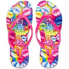 a60b9954ba4aa4 Lisa Frank Flip Flop With Authentic Prints -- We appreciate you for seeing  our picture