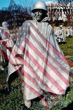 Korean War Veterans remembered by D Hackett Korean War, Shadow Box, American Flag, Fine Art America, American Fl, American Flag Apparel