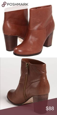 Cole Haan Cassidy Short Brown Boot Size 9 EUC, Nike Air, 2 3/4 inch stacked leather heel Cole Haan Shoes Ankle Boots & Booties