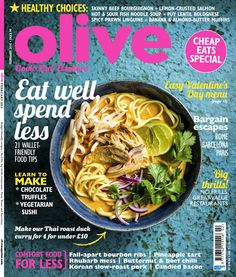 olive February 2015 cover. This Thai roast duck curry is a definite winter warmer!