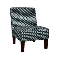 Maran Slipper Chair featuring basketweave- blue licorice by drapestudio | Roostery Home Decor