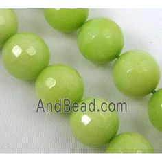 olive Jade Beads, stability, faceted round dia, approx per st Jade Beads, Stability, Saints