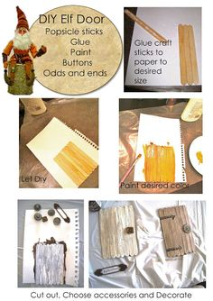 Whimsical Elf Door - let the wee filk feel right at home with a easy DIY popsicle stick elf door- fun to put on flower pots, walls, or tree trunks
