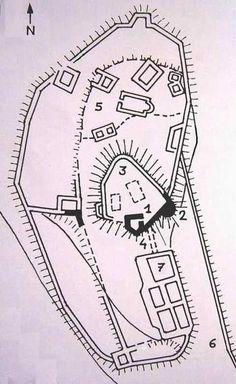"""Plan """"original"""" de la Tour de Clermont, Chirens, Dauphiné. France"""
