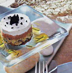 Caviar and potato cake