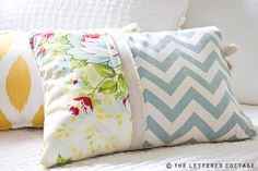 Pillows from scrap material (including painter's drop cloth or linen)