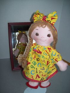 Cloth Doll PDF Pattern Snoozie Suzie Asleep Awake by PeekabooPorch, $9.00