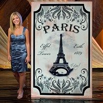 Vintage Paris Eiffel Tower Standee