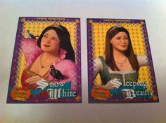Inkworks Shrek the 3rd 14 15 Sleeping Beauty & Snow White Trading Cards