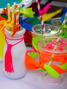 Neon Pow Wow Birthday Party via Kara's Party Ideas KarasPartyIdeas.com | The Place for ALL THINGS PARTY! (32)