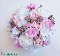 Nagy rózsaszín rózsás virágdoboz (Decoflor) - Meska.hu Floral Wreath, Wreaths, Decor, Floral Crown, Decoration, Door Wreaths, Deco Mesh Wreaths, Decorating, Floral Arrangements