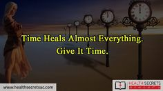 Time heals everything #time #life #heal