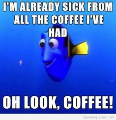 Funny coffee quote with meme