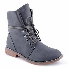 16c00c2c09d6 Damen Stiefeletten Stiefel Blockabsatz Schnür Biker Boots Freizeit Schuhe  Camouflage-ungefüttert EU 36  Amazon.de  Schuhe   Handtaschen
