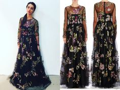Mary wears this Valentino embroidered tulle gown on Reign