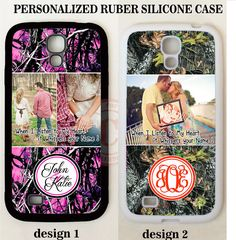 PINK CAMO TREE PERSONALIZED PHOTO CASE FOR SAMSUNG GALAXY S8 S7 S6 NOTE 5 Custom #UnbrandedGeneric