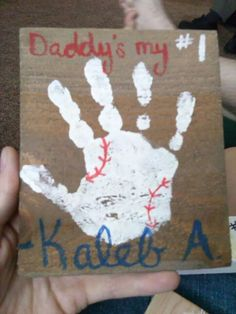Father S Day Craft Baseball Themed My Mommy Crafts