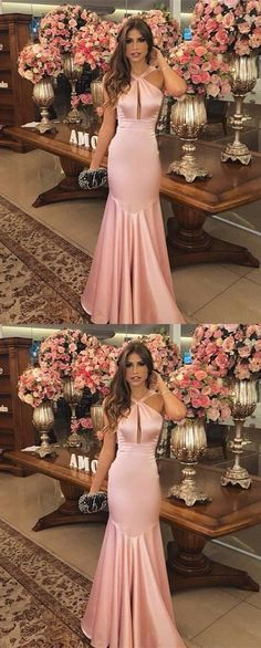 mermaid halter prom party dresses, elegant fromal evening gowns for special occasion.