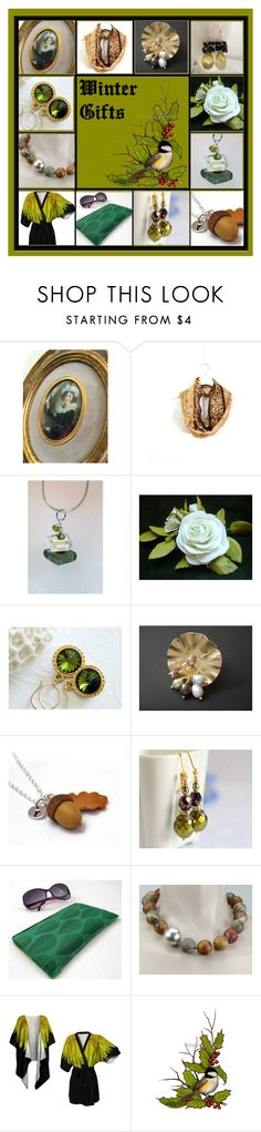 """Winter Gifts"" by inspiredbyten ❤ liked on Polyvore featuring Olivine and vintage"