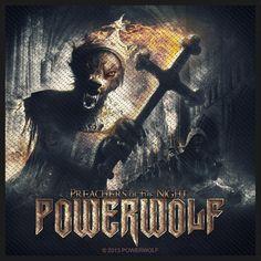 """Toppa """"Preachers Of The Night"""" in tessuto da cucire con stampa dei #Powerwolf. Dimensioni: 10 x 10 cm circa. Materiale: 100% poliestere."""