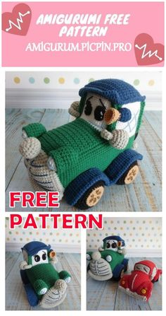 We continue to provide you with the latest recipes related to Amigurumi. Amigurumi classic car free crochet pattern is waiting for you. Crochet Car, Crochet Baby Toys, Free Crochet, Crochet Beanie, Crochet Dolls Free Patterns, Crochet Stitches Patterns, Amigurumi Patterns, Doll Patterns, Reverse Single Crochet