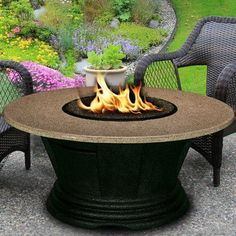 """California Outdoor Concepts San Simeon Chat Height Fire Pit Table Base Finish: Brown, Glass Finish: Diamond White, Size: 42"""", Top Finish: Capistrano"""
