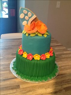 Hawaïen cake Birthday Cakes, Ideas, Food, Essen, Birthday Cake, Meals, Thoughts, Yemek, Happy Birthday Cakes