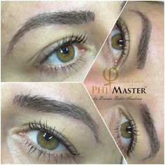 The perfect natural eyebrows. Microblading