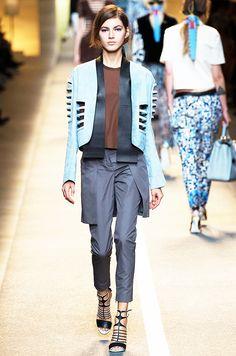 The S/S 15 Fendi runway showcased reverse apron trouser