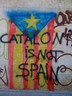 Catalan-flag-graffiti.   Catalonia