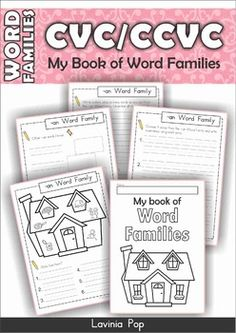 Word FamiliesWord Families - CVC/CCVC My Book of Word FamiliesPlease note! This…