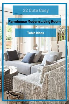 22 Cute Cosy Farmhouse Modern Living Room Table Ideas #livingroomideas Modern Living Room Table, Living Room Decor, Room Colors, Modern Farmhouse, Cosy, Furniture, Ideas, Home Decor, Drawing Room Decoration