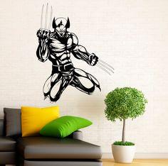 Wolverine Hero Wall Decal Vinyl Stickers Comics Superhero Interior Home Design Wall Art Murals Bedroom Decor (2w01ne)