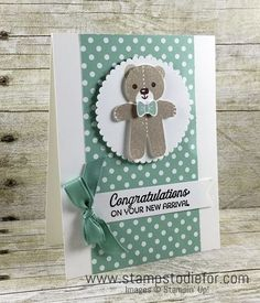 Stampin Up Cookie Cutter Christmas Stamp Set & Punch, Baby Card, New Baby www.stampstodiefor.com