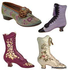 Старинная обувь (54 фото). Обсуждение на LiveInternet - Российский Сервис Онлайн-Дневников Parasols, Old Shoes, Lingerie, Latest Fashion, Kitten Heels, Booty, Retro, Vintage, Accessories