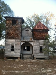Old church deep in the Screven county woods.