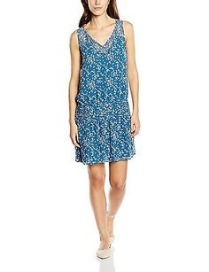 UK 12, Blue - Blue, 2TWO Women's Janye Sleeveless Dress NEW