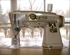 Vintage singer slant-o-matic-500a rocketeer