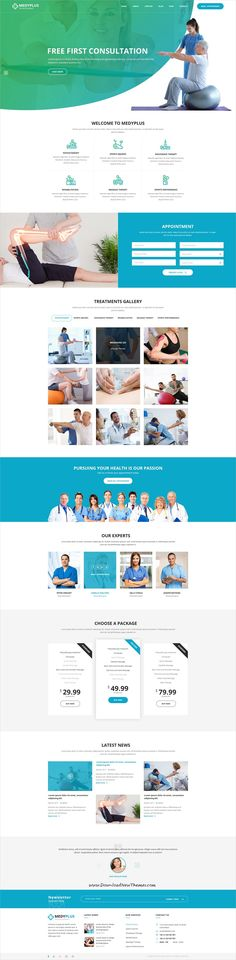 MedyPlus is clean and modern design PSD template for #medical #healthcare website with 7 homepage layouts and 24 layered PSD pages to live preview & download click on Visit #psdtemplates