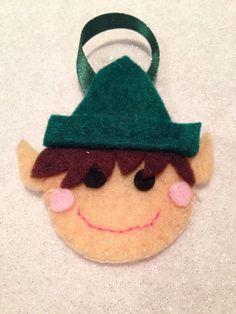 Elf felt christmas tree decoration
