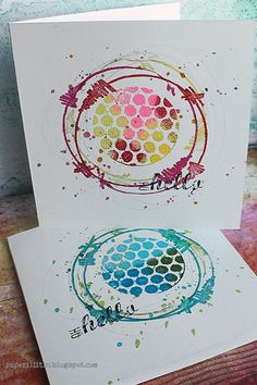 Love those Cards by Riikka Kovasin using the n*Studio Signature Wired Stampset by @stampendous